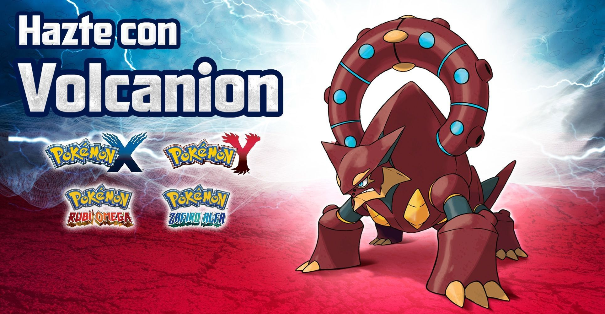Cómo conseguir al Pokémon singular Volcanion