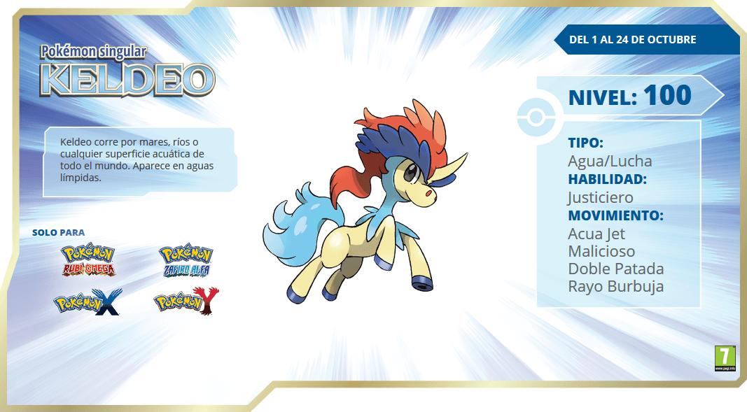 ¡Inaugura el mes de octubre con el Pokémon Potro Keldeo!