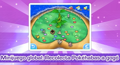 "¡El minijuego global ""Recolecta Pokéhabas a gogó"" ha brotado en Pokémon Global Link!"
