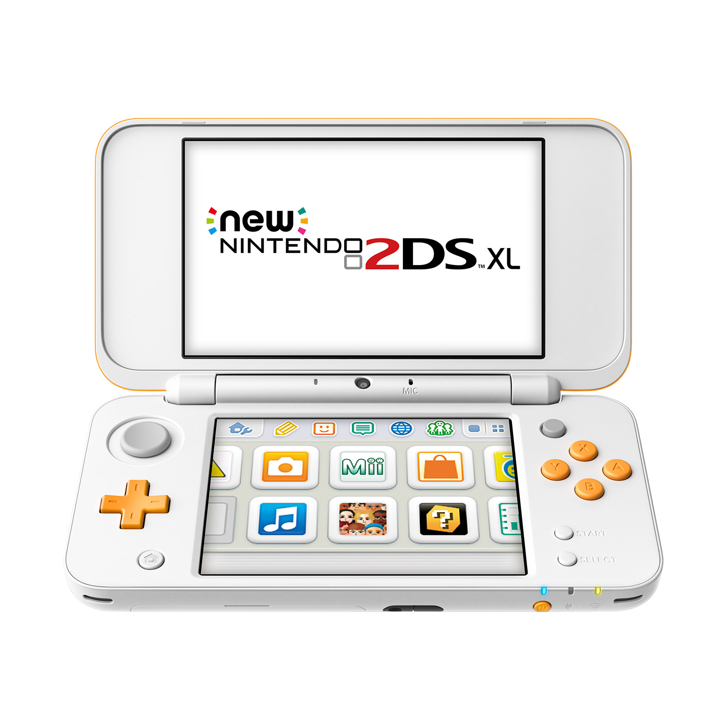 New 2DS XL Blanco/Naranja
