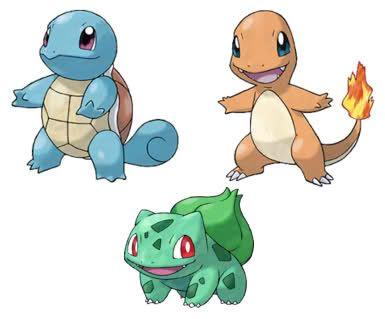Pokémon Iniciales de VerdeHoja y RojoFuego